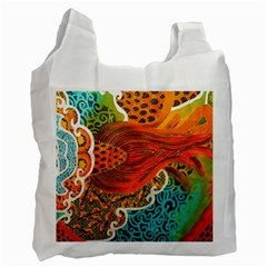 The Beautiful Of Art Indonesian Batik Pattern Recycle Bag (One Side)