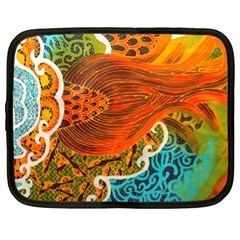 The Beautiful Of Art Indonesian Batik Pattern Netbook Case (XL)