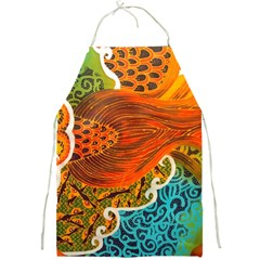 The Beautiful Of Art Indonesian Batik Pattern Full Print Aprons