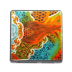 The Beautiful Of Art Indonesian Batik Pattern Memory Card Reader (square)