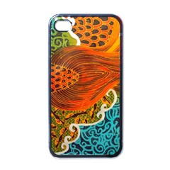 The Beautiful Of Art Indonesian Batik Pattern Apple iPhone 4 Case (Black)