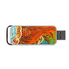 The Beautiful Of Art Indonesian Batik Pattern Portable Usb Flash (one Side)
