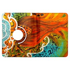 The Beautiful Of Art Indonesian Batik Pattern Kindle Fire Hdx Flip 360 Case