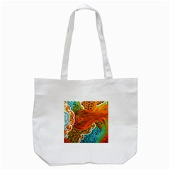 The Beautiful Of Art Indonesian Batik Pattern Tote Bag (White)