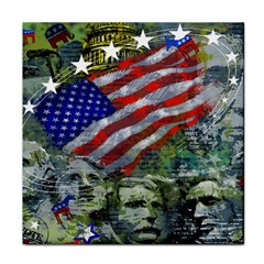 Usa United States Of America Images Independence Day Tile Coasters