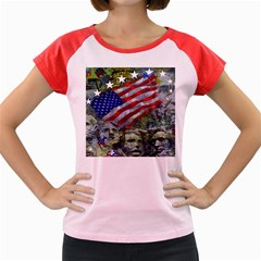 Usa United States Of America Images Independence Day Women s Cap Sleeve T-Shirt