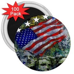 Usa United States Of America Images Independence Day 3  Magnets (100 Pack)
