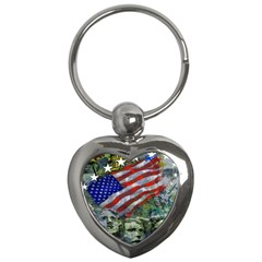 Usa United States Of America Images Independence Day Key Chains (heart)