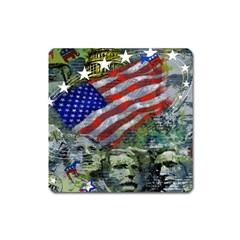 Usa United States Of America Images Independence Day Square Magnet
