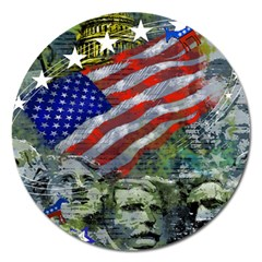 Usa United States Of America Images Independence Day Magnet 5  (Round)
