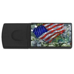 Usa United States Of America Images Independence Day USB Flash Drive Rectangular (2 GB)