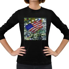 Usa United States Of America Images Independence Day Women s Long Sleeve Dark T-Shirts