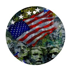 Usa United States Of America Images Independence Day Round Ornament (Two Sides)