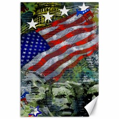 Usa United States Of America Images Independence Day Canvas 12  x 18