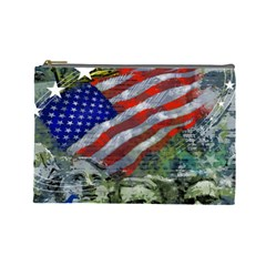 Usa United States Of America Images Independence Day Cosmetic Bag (Large)