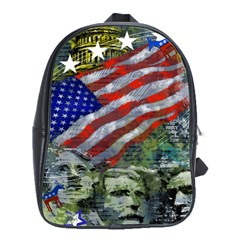 Usa United States Of America Images Independence Day School Bags(Large)