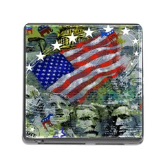 Usa United States Of America Images Independence Day Memory Card Reader (square)