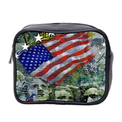 Usa United States Of America Images Independence Day Mini Toiletries Bag 2-Side