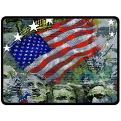 Usa United States Of America Images Independence Day Fleece Blanket (Large)