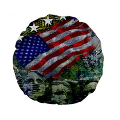 Usa United States Of America Images Independence Day Standard 15  Premium Round Cushions