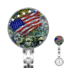 Usa United States Of America Images Independence Day Stainless Steel Nurses Watch