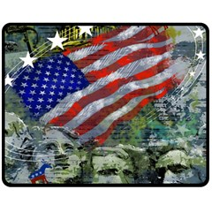 Usa United States Of America Images Independence Day Double Sided Fleece Blanket (medium)