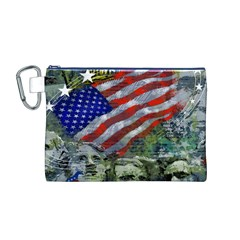 Usa United States Of America Images Independence Day Canvas Cosmetic Bag (M)