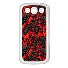 Volcanic Textures Samsung Galaxy S3 Back Case (White)