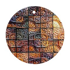 Wooden Blocks Detail Ornament (round)