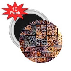 Wooden Blocks Detail 2.25  Magnets (10 pack)