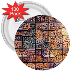 Wooden Blocks Detail 3  Buttons (100 pack)