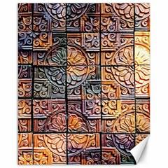 Wooden Blocks Detail Canvas 16  x 20