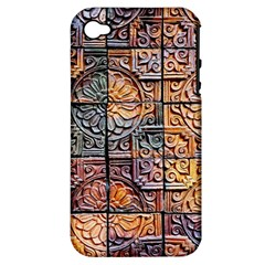 Wooden Blocks Detail Apple Iphone 4/4s Hardshell Case (pc+silicone)