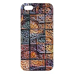 Wooden Blocks Detail iPhone 5S/ SE Premium Hardshell Case