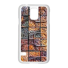 Wooden Blocks Detail Samsung Galaxy S5 Case (white)