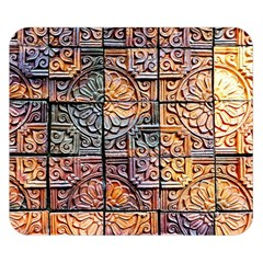 Wooden Blocks Detail Double Sided Flano Blanket (Small)