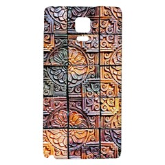Wooden Blocks Detail Galaxy Note 4 Back Case