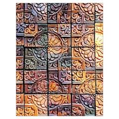 Wooden Blocks Detail Drawstring Bag (large)