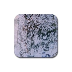 Frosted Winter Texture Rubber Coaster (Square)