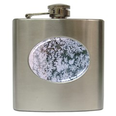 Frosted Winter Texture Hip Flask (6 oz)