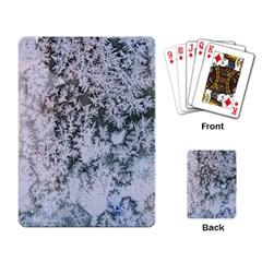 Frosted Winter Texture Playing Card