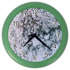 Frosted Winter Texture Color Wall Clocks