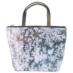 Frosted Winter Texture Bucket Bags