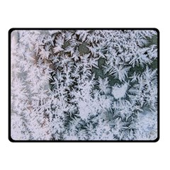 Frosted Winter Texture Fleece Blanket (Small)