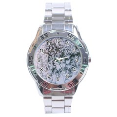 Frosted Winter Texture Stainless Steel Analogue Watch