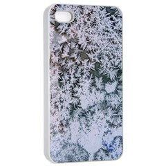 Frosted Winter Texture Apple iPhone 4/4s Seamless Case (White)