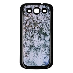 Frosted Winter Texture Samsung Galaxy S3 Back Case (Black)