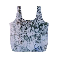 Frosted Winter Texture Full Print Recycle Bags (M)