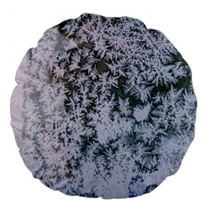 Frosted Winter Texture Large 18  Premium Flano Round Cushions