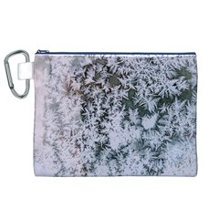 Frosted Winter Texture Canvas Cosmetic Bag (XL)